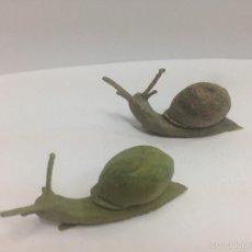 Figuras de Goma y PVC: 2 FIGURAS CARACOLES DE PECH . Lote 58678396