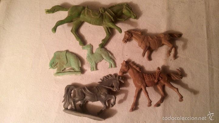 ANTIGUOS CABALLOS EN PLASTICO O PVC JECSAN (Juguetes - Figuras de Goma y Pvc - Jecsan)