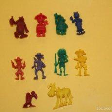 Figuras de Goma y PVC: LOTE DE 10 FIGURAS DE LUCKY LUCK - TAURUS - AÑOS 70. Lote 58813666