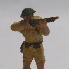 Figuras de Goma y PVC: ANTIGUO SOLDADO INGLES DE PECH, FABRICADO EN GOMA AÑOS 50/60.. Lote 58971865