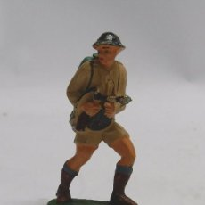 Figuras de Goma y PVC: ANTIGUO SOLDADO INGLES DE PECH, FABRICADO EN GOMA AÑOS 50/60.. Lote 58972930