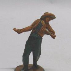 Figuras de Goma y PVC: FIGURA DE GAMA. VAQUERO EN GOMA. DOS PIEZAS.. Lote 58993315