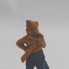 Figuras de Goma y PVC: FIGURA DE GAMA. VAQUERO EN GOMA. DOS PIEZAS.. Lote 58993750