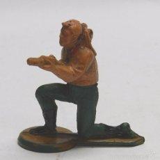Figuras de Goma y PVC: FIGURA DE GAMA. VAQUERO EN GOMA. DOS PIEZAS.. Lote 58994020