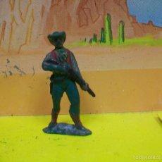 Figuras de Goma y PVC: FIGURA VAQUERO AGUSTIN TEIXIDO GOMA - COWBOY GOMA TEIXIDO AÑOS 50 . Lote 59052125