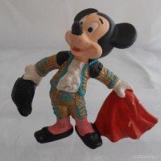 Figuras de Goma y PVC: FIGURA PVC MICKEY MOUSE TORERO, WALT DISNEY, BULLYLAND MADE IN GERMANY. Lote 59067085
