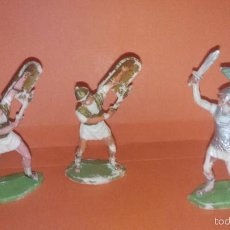 Figuras de Goma y PVC: LOTE 2 ROMANOS 1 CARTAGINES ORIGINALES ROJAS MALARET BATALLA DE METAURO. Lote 166716901