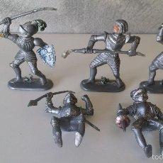 Figuras de Goma y PVC: CABALLEROS MEDIEVALES PVC GERMANY. Lote 59892975