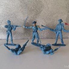 Figuras de Goma y PVC: FIGURAS SÉPTIMO CABALLERIA COMANSI PVC. Lote 59894039