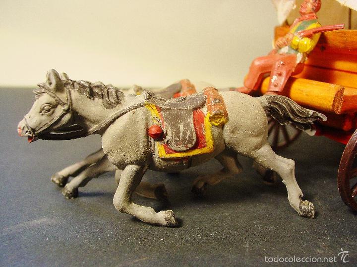 Figuras de Goma y PVC: CARRETA PECH EN MADERA, GOMA Y PLÁSTICO. AÑOS 50. CON SU CAJA. - Foto 3 - 59955927
