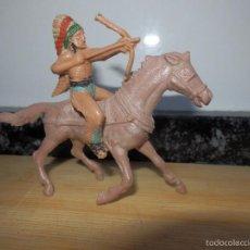 Figuras de Goma y PVC: INDIO A CABALLO JECSAN . Lote 60100575