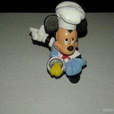 Figuras de Goma y PVC: WALT DISNEY MICKEY MOUSE VESTIDO DE COCINERO FIGURA DE PVC DE BULLY. Lote 60118463