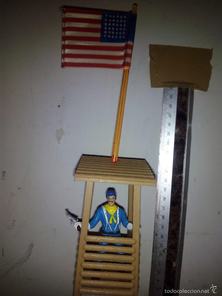 Figuras de Goma y PVC: Torreta vigía con bandera americana en tela - Foto 2 - 60420235