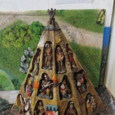 Figuras de Goma y PVC: INDIOS DE RESINA Y TIPI. Lote 60449055