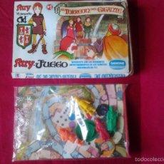 Figuras de Goma y PVC: RUY EL PEQUEÑO CID-JUEGO MESA 4 FIGURAS DUNKIN SIN ABRIR EL TORREON DEL GIGANTE Nº 1 DANONE-AÑOS 80.. Lote 60536107