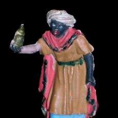 Figuras de Goma y PVC: 1ª SERIE FIGURA REYES MAGOS, BELÉN, BELENISMO, GOMA, PECH, ORIGINAL AÑOS 50-60.. Lote 60679051