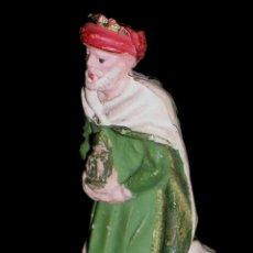 Figuras de Goma y PVC: 1ª SERIE FIGURA REYES MAGOS, BELÉN, BELENISMO, GOMA, PECH, ORIGINAL AÑOS 50-60.. Lote 60679083