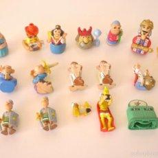 Figuras Kinder: 12 FIGURAS COLECCIONES KINDER SORPRESA: CABEZONES, MONOS Y ASTÉRIX Y OBÉLIX.. Lote 60722511