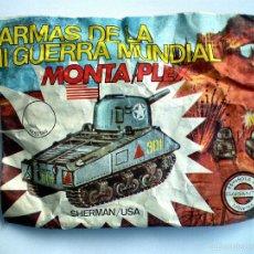 Figuras de Goma y PVC: SOBRE MONTAPLEX Nº 419 TANQUE SHERMAN USA - SOBRE CERRADO. Lote 114535006