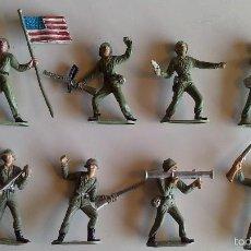 Figuras de Goma y PVC: LOTE DE 8 SOLDADOS EJERCITO AMERICANCO DE COMANSI, ORIGINAL AÑOS 60/70. Lote 60783623