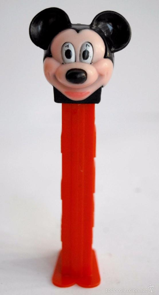 Dispensador Pez: PEZ MICKEY MOUSE MUY DIFICIL DE ENCONTRAR WALT DISNEY MIKI MICKI DISPENSADOR ROJO - Foto 1 - 60800879