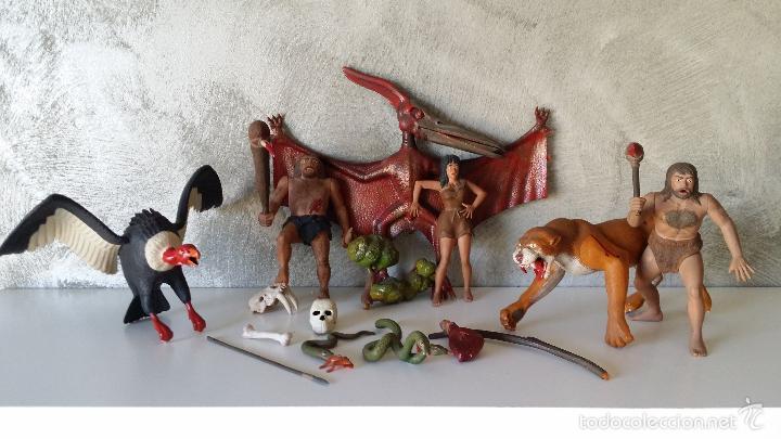 ANTIGUAS FIGURAS DIORAMA PREHISTÓRICO (Juguetes - Figuras de Goma y Pvc - Otras)
