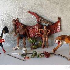 Figuras de Goma y PVC: ANTIGUAS FIGURAS DIORAMA PREHISTÓRICO. Lote 60927075