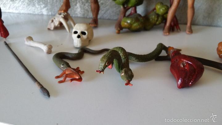Figuras de Goma y PVC: ANTIGUAS FIGURAS DIORAMA PREHISTÓRICO - Foto 4 - 60927075