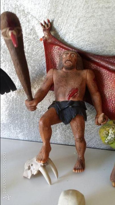 Figuras de Goma y PVC: ANTIGUAS FIGURAS DIORAMA PREHISTÓRICO - Foto 6 - 60927075