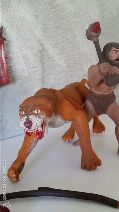 Figuras de Goma y PVC: ANTIGUAS FIGURAS DIORAMA PREHISTÓRICO - Foto 9 - 60927075