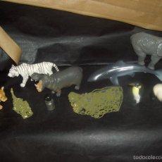 Figuras de Goma y PVC Schleich: FIGURAS ANIMALES SCHLEICH HIPOPOTAMO TIGRE PINGUINO TIBURON OSO. Lote 43709688