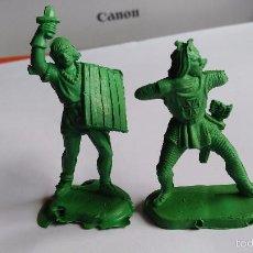 Figuras de Goma y PVC: LOTE DE FIGURAS PLASTICO MEDIEVALES . Lote 61078187