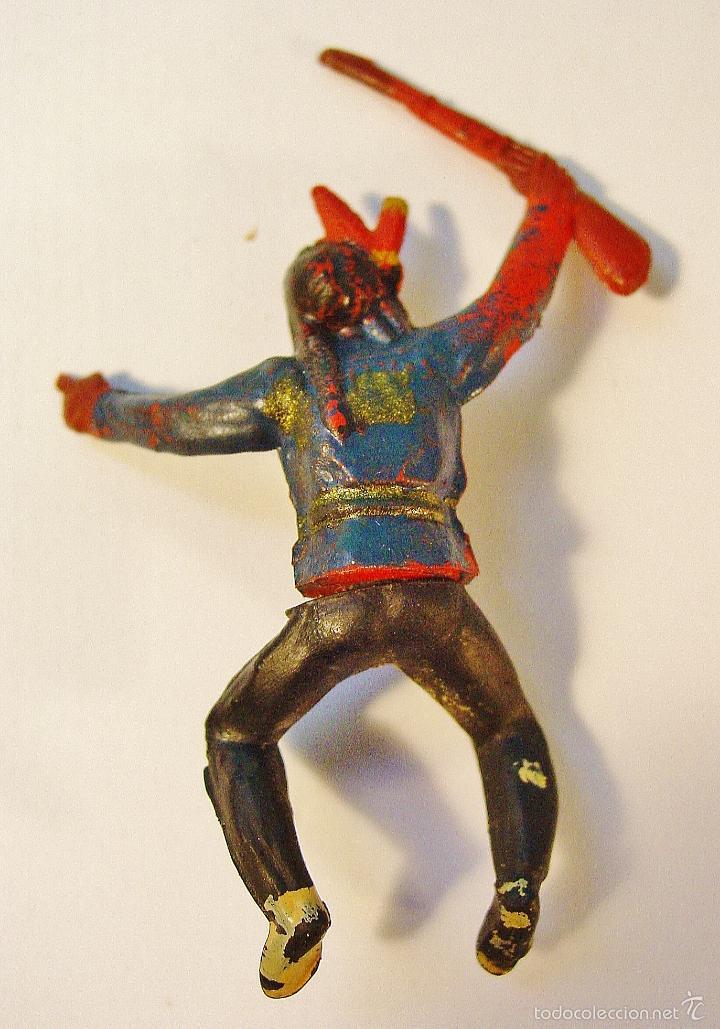 Figuras de Goma y PVC: INDIO EN GOMA. AÑOS 50. GAMA - Foto 2 - 61189631