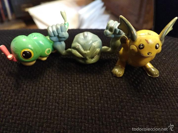 Figuras de Goma y PVC: Lote figuras pokemon Tomy 1997: CATERPIE, ROCA, etc - Foto 2 - 61313095
