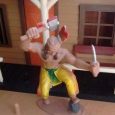Figuras de Goma y PVC: FIGURA DEL OESTE. GUERRERO INDIO. GOMA.. Lote 61740500