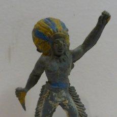 Figuras de Goma y PVC: ANTIGUA FIGURA INDIO DE GOMA A.60. Lote 61869092