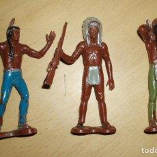 Figuras de Borracha e PVC: TRES FIGURAS INDIOS 8,5 CM. Lote 61928940