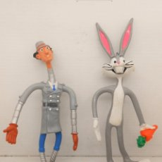 Figuras de Goma y PVC: COMICS SPAIN FIGURA BUGS BUNNY + INSPECTOR GADGET PVC GOMA ALAMBRE 1983 FIGURE MUÑECOS COMIC. Lote 137347566