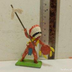 Figuras de Goma y PVC: FIGURA OESTE VAQUEROS INDIOS BRITAINS DEETAIL . Lote 62108896