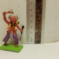Figuras de Goma y PVC: FIGURA OESTE VAQUEROS INDIOS BRITAINS DEETAIL. Lote 62108992