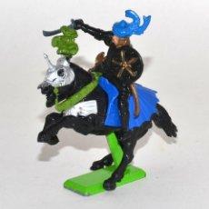 Figuras de Goma y PVC: CABALLERO TURCO A CABALLO, DE LA MARCA BRITAINS DEETAIL, PEANA METÁLICA.. Lote 62207108