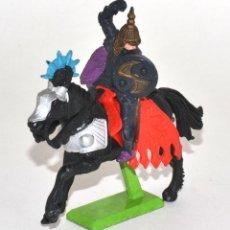 Figuras de Goma y PVC: CABALLERO TURCO A CABALLO, DE LA MARCA BRITAINS DEETAIL, PEANA METÁLICA.. Lote 62207332