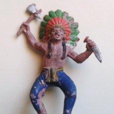 Figuras de Goma y PVC: FIGURA INDIO PARA CABALLO AÑOS 50. Lote 62276376