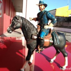 Figurines en Caoutchouc et PVC: COMANSI OESTE HEROES WEST FIGURA GRAN TAMAÑO OFICIAL NATHAN MACKENZIE Y CABALLO. Lote 62744068