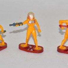 Figuras de Goma y PVC: BRITAINS SPACE, CIRCA 1980, 3 GUARDIANES, COMPLETOS, BASE METÁLICA © 1981 BRITAINS - ENGLAND. Lote 62797216