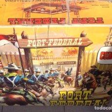 Figuras de Goma y PVC: REBAJADI!!!!FORT FEDERAL COMANSI DEL 7' REGIMIENTO DE CABALLERÍA REF 128. Lote 63112302