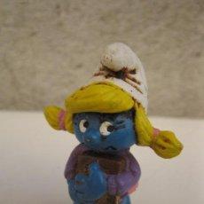 Figuras de Goma y PVC: PITUFINA - FIGURA DE PVC - SCHLEICH - LOS PITUFOS - PEYO - AÑO 1983.. Lote 63214552