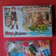 Figuras de Goma y PVC: RUY EL PEQUEÑO CID JUEGO MESA 4 FIGURAS DUNKIN SIN ABRIR- LA GRUTA DE LAS TORTUGAS 2 DANONE AÑOS 80.. Lote 214075800