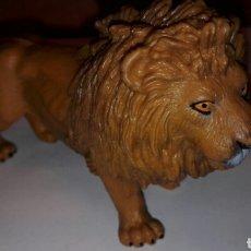 Figuras de Goma y PVC: C62 FIGURA SERIE ANIMALES LEON MACHO 1996 SCHLEICH 11X7CM. Lote 63405151