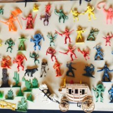Figuras de Goma y PVC: COMANSI Y OTRAS MARCAS, INDIOS, VAQUEROS, SOLDADOS. Lote 63546402